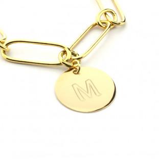 Pulsera de eslabones con medalla personalizable