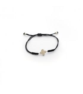 Pulsera flor circonitas y plata