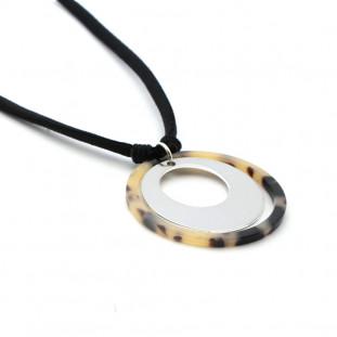 CAREY - Collar personalizable en plata y aro carey