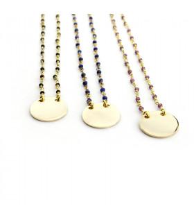 UNZO - Collar personalizable con turmalinas de colores
