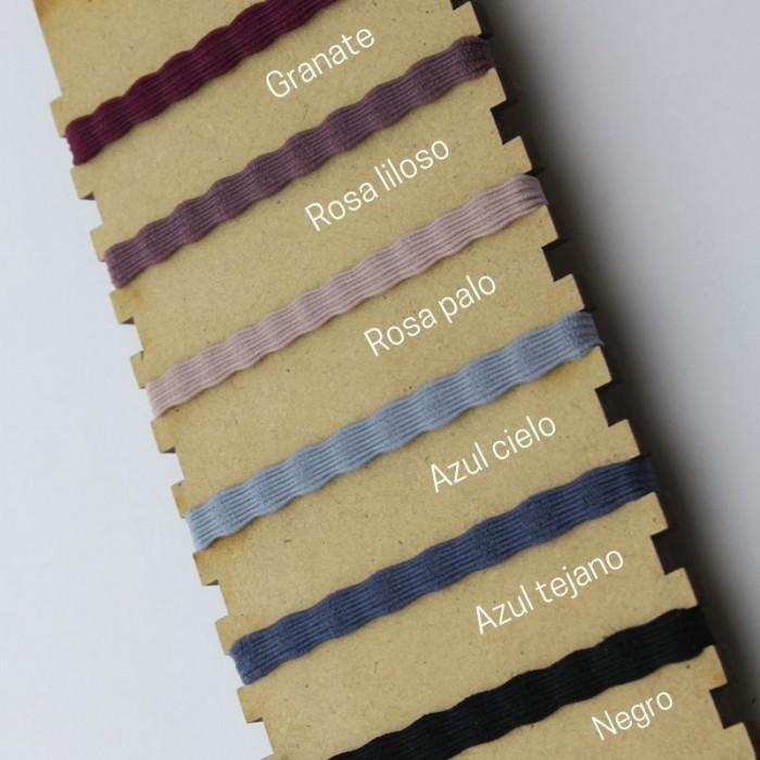 Pulsera escapulario cinta elástica ondulada 18mm