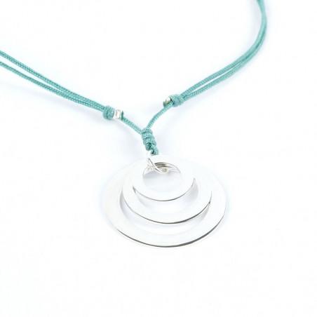 TRES LUNAS  - Collar tres aros de plata