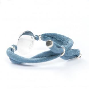 Pulsera PLACA cinta elástica BLUEBELL mediana