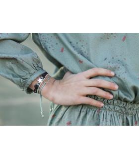 ALICIA - Pulsera algodón con estrella
