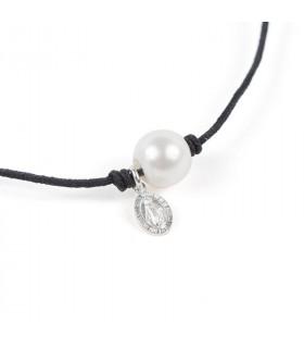 Collar Perla y Milagrosa