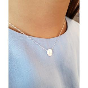 Collar Plaquita cadena fina de plata o plata bañada