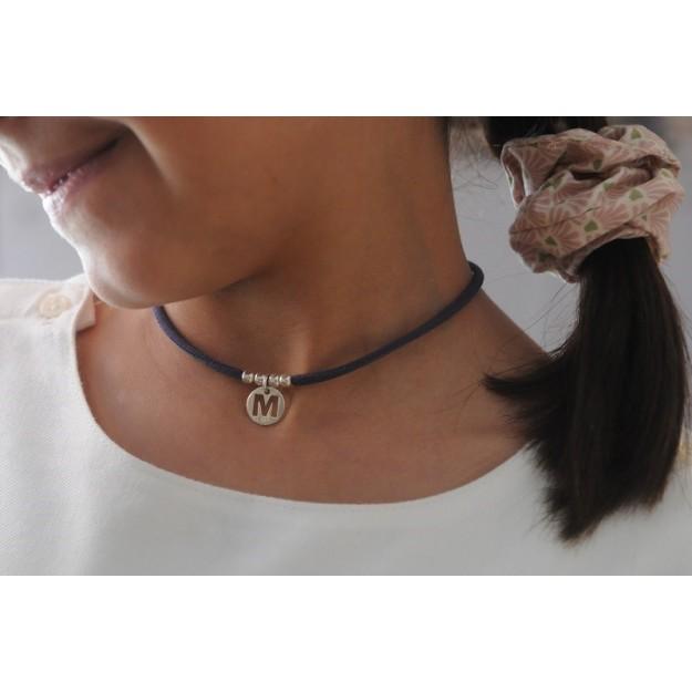 LUPE - Collar cinta elástica con inicial