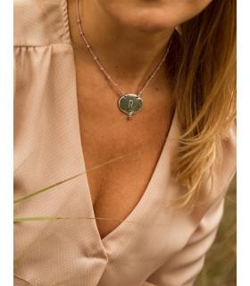 MOS - Collar Placa personalizable con nuditos