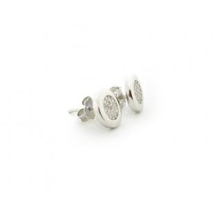 Pendientes de plata y circonitas