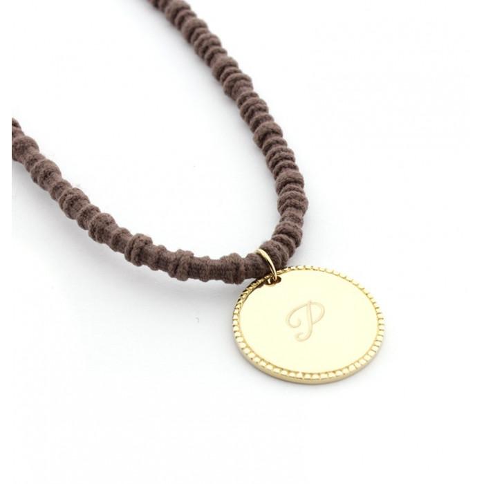 Collar medalla dorada personalizable con bisel