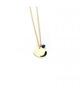 TEA - Collar cadena fina con placa irregular