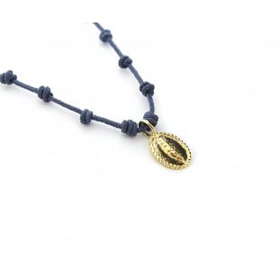 AURA- Collar nuditos CRUZ - PLUMA dorada