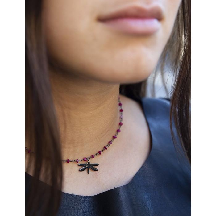 LIBÉLULA - Collar piedrecitas