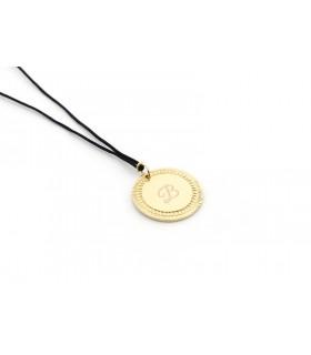ADURI - Collar medalla dorada con b