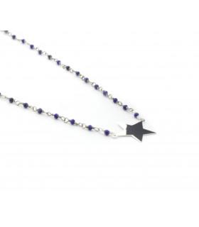 Collar Estrella con piedras semi-preciosas