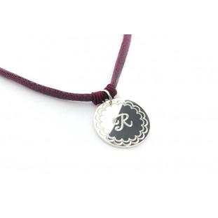 GRETA - Collar medalla con bisel personalizable