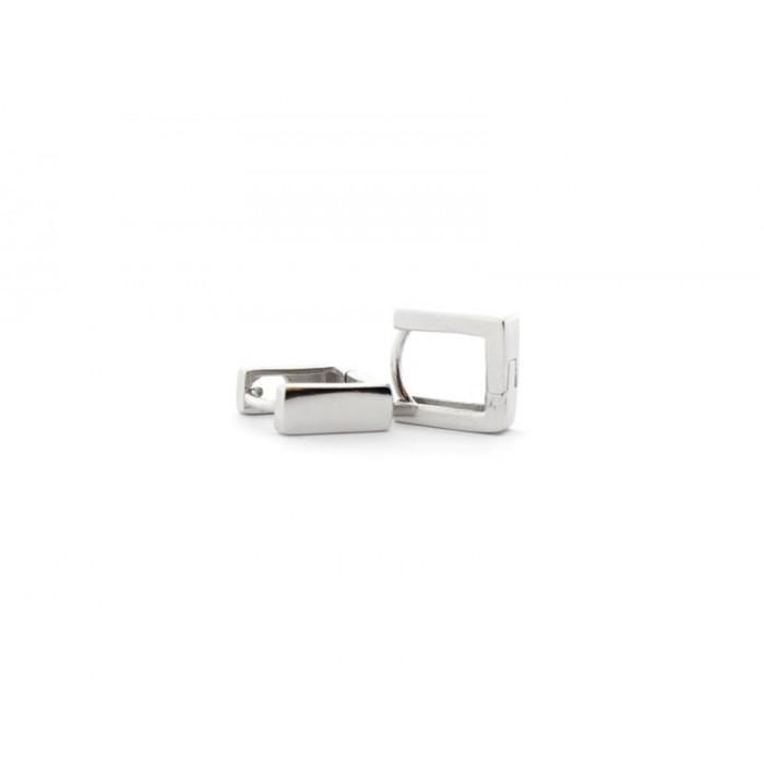 Pendientes rectangulares de plata