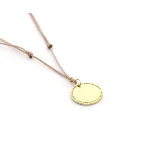 ROSANA - Collar placa dorada con ribete