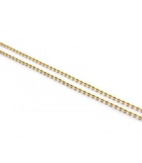 Collar cadena dorada  40cm