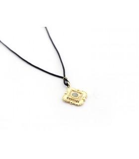 PÍA - Collar pieza dorada con turmalina