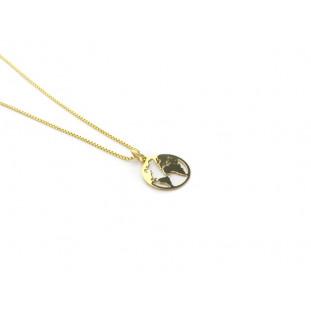 MUNDO - Collar cadena fina en plata o plata bañada