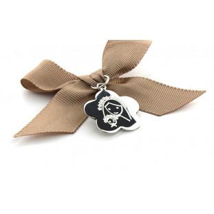 Medalla FLOR con lazo para CUNA - Escoge el dibujo