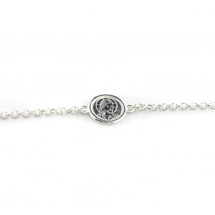 Pulsera escapulario cadena de plata