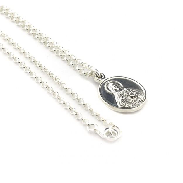 Collar escapulario clásico con cadena 17 mm