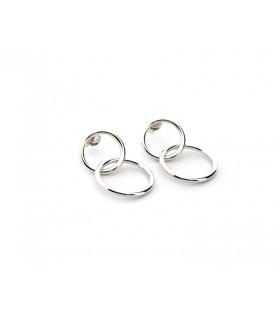 Pendientes 2 aros de plata
