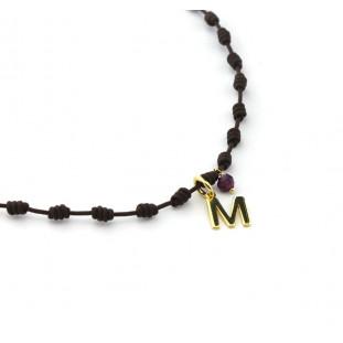OLAYA INICIAL DORADA - Collar nuditos con letra