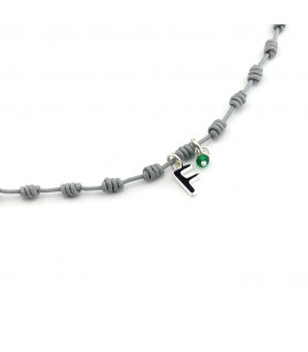 OLAYA INICIAL PLATA - Collar nuditos con letra