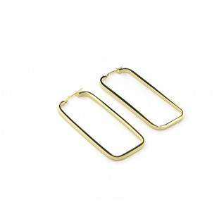 Pendientes rectangulares dorados