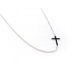 Collar cadena fina con cruz