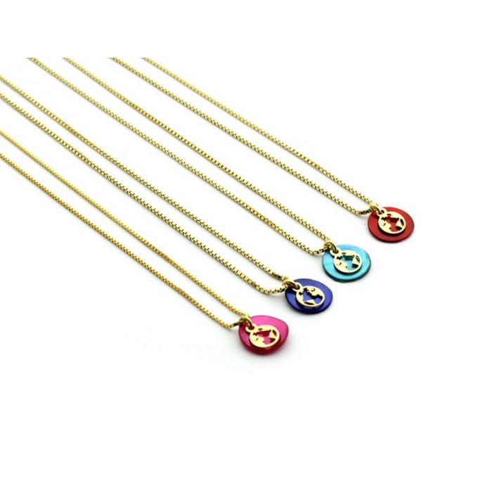 FOX - Collar mini mundo con nácar de color