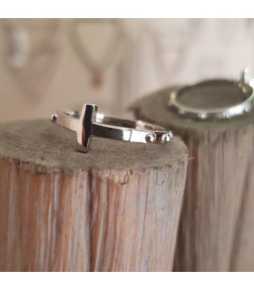Anillo rosario de plata
