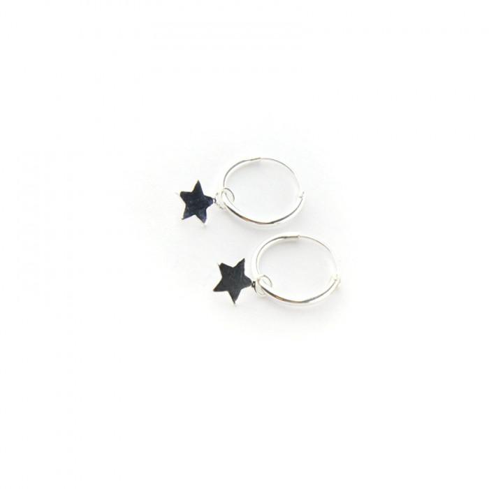Pendiente aro con estrella
