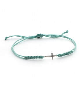 TRIANA - Pulsera macramé cruz mini