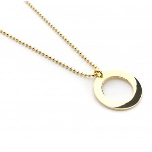 Collar con cadena y donut dorado personalizable