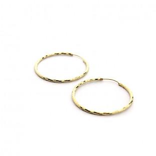Pendientes aro diamantados 38 mm