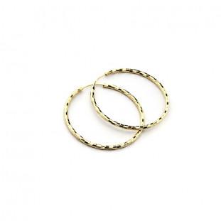 Pendientes aro diamantados 28 mm