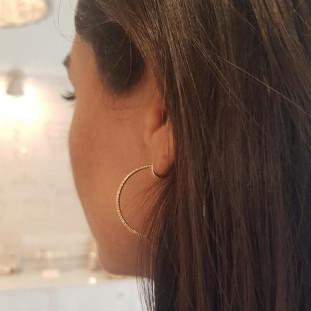 Pendientes dorados 40 mm