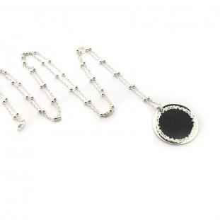 Collar largo plata personalizable