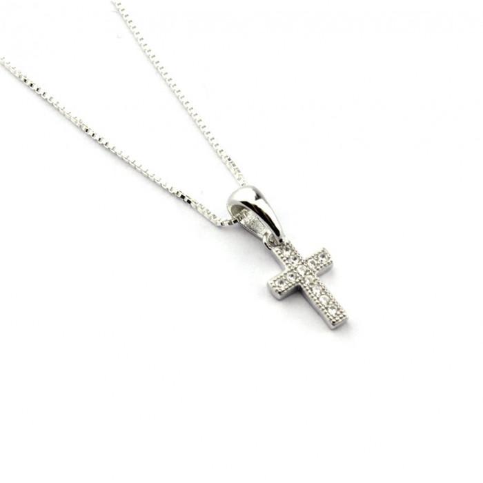 Collar cadena con Cruz de circonitas