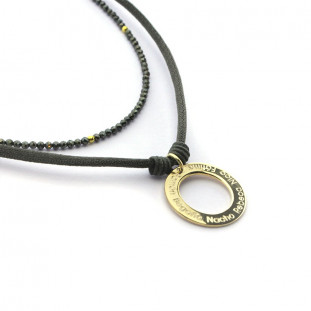 Collar donut dorado personalizable