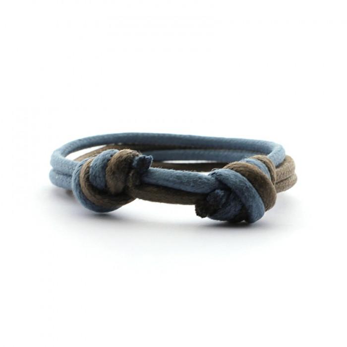 Pulsera cordón doble con nudos correderos