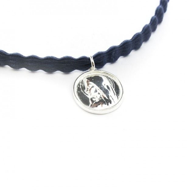Collar escapulario Virgen Niña montaje choker - 18mm