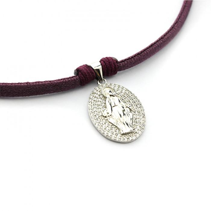 Collar MILAGROSA de plata y circonitas