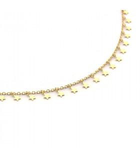 Collar cadena fina con estrellas de plata o bañada en oro