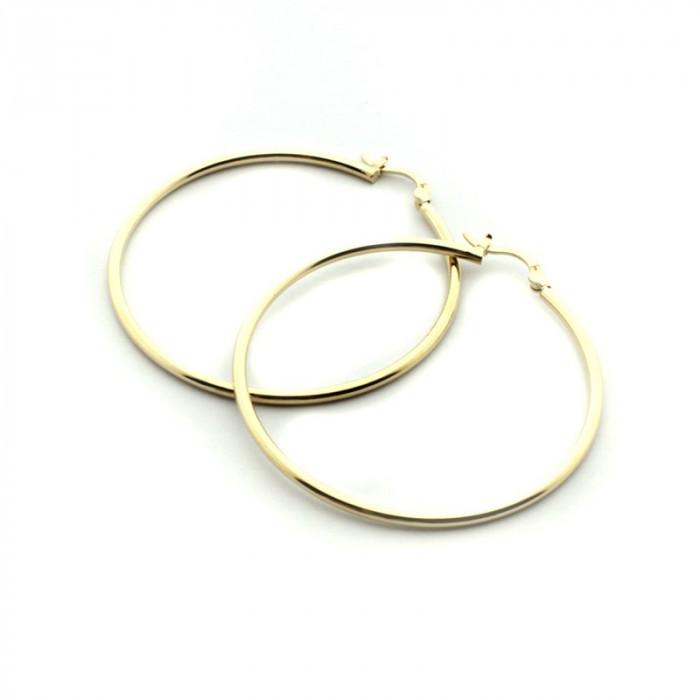 Pendientes dorados 50 mm