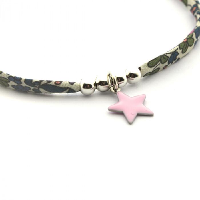 Pulsera Liberty con estrella rosa
